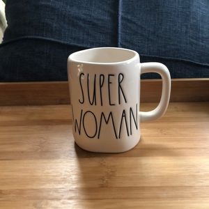 "Rae Dunn White ""Super Woman"" Mug"